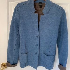 Brushed double-face wool relaxed fit blazer